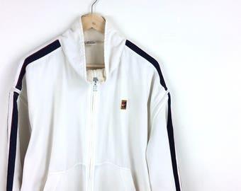 Vintage Nike Jacket / Nike Tennis / Challenge Court / Nike Swoosh / Nike Hoodie / Nike Jacket / Nike Hoodie / Big Swoosh / Nike Big Logo