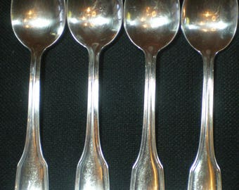 Reed & Barton Stainless Regent Scroll Four Oval Soup Spoons