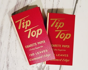 Vintage 1940s Tip Top Cigarette Papers, Liggett & Myers Tobacco Co.