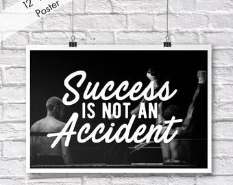 Motivational Poster Success Is Not An Accident Inspirational Educational Empowering