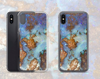 Boulder Opal Pattern Phone Case, Mineral Rock Print, Rockhound stone gift, iPhone X, 7/8 P, 7/8, 6/6s P, 6/6s, Galaxy S7, S7 Edge, S8, S8+