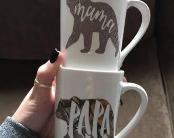 Mama Bear & Papa Bear Mugs