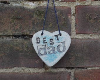 Best Dad Heart, Father's Day Gift, Dad's Gift, Best Dad Gift, Letterpress Heart