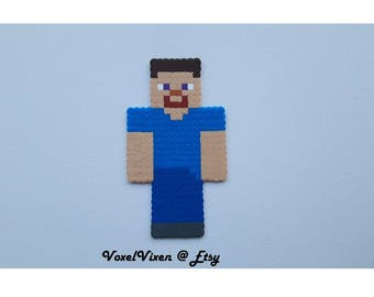 Minecraft Steve or Bring Your Own Character to Life - Customisable Pixel Perler Sprite