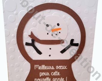 Original greetings card, get well card snowman