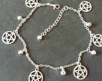 Wiccan-pagan-wicca pentacles anklet jewelry-jewelry-witch