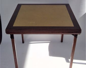Vintage Leg O Matic Solid Wood Folding Card Table