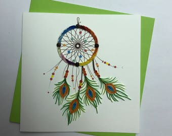 Dream Catcher Quilling Greeting Card