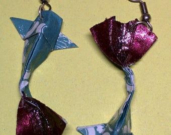 """""""Carp"""" - (CAR_020) silver hook earrings"""