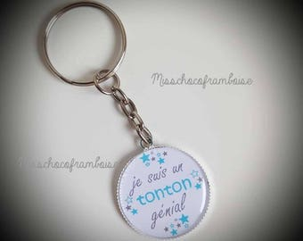 Uncle Keychain awesome cabochon 25mm