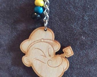 Popeye keyring, Popeye the sailor man keyring, Disney keyring, Popeye keychain item 539 by CraftyLittleMonkeyGB