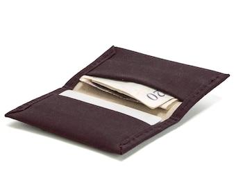 Waxed Cotton Wallet - Canvas Wallet - Slim Wallet - Bi-fold Wallet - Vegan Wallet - Minimal Wallet - Credit Card Holder - Note holder