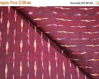 10% Off On Maroon Ikat Fabric by the Yard