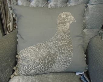 Voyage Decoration Cushion - Game Grouse - Design c170148  50cm x 50cm from the Voyage Decoration Natural History Collection