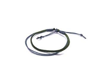 Khaki unisex bracelet