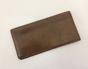 Vintage Coach BiFold Leather Checkbook Cover Credit Card Holder
