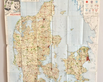 Hiking in Denmark, then you need a vintage map to find your way!