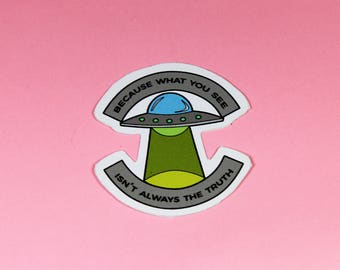 UFO Same Parts Vinyl Sticker