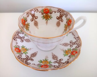 Antique Royal Albert Crown China Cup And Saucer
