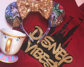 Stained Glass Beauty & The Beast Ears