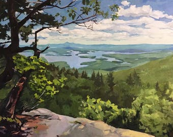 View of Squam Lake from Rattlesnake, Giclee Print