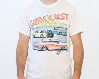 Vintage 1980s Car Quest Auto Parts 60/40 Hot Rod Tee