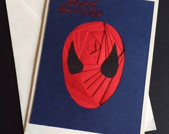 Spiderman Birthday Card