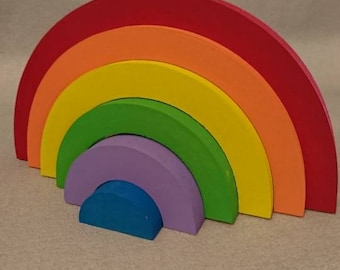 Freestanding Wooden Rainbow, Bright Rainbow, Nursery Decor, Rainbow Baby,  Bedroom Accessories