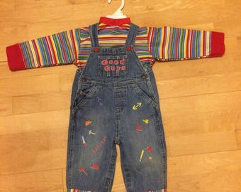 Chucky Costume for Toddler or Child Multiple sizes available Custom Made Childs Play Good Guy