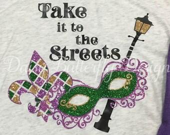 Mardi Gras Raglan - Take it to the Streets