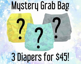 Mystery Grab Bag - AIO - All in One Cloth Diaper - All-In-One - Pocket Diaper - Diaper Cover - WAHM