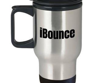 iBounce - Funny Trampolining Gift - Trampoline Travel Mug