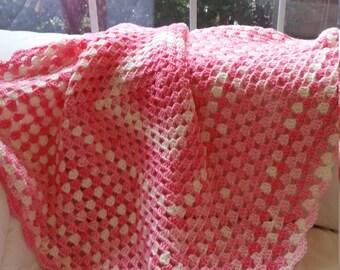 Crochet Baby Granny Blanket (28 in x 28 in)