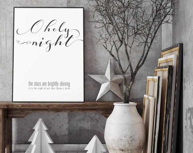 O Holy Night- Modern Christmas Decor Print