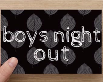 Boys Night Out Leaves Greeting Card Flat Card Set of 10