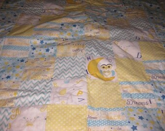 To the Moon and Back Baby Quilt