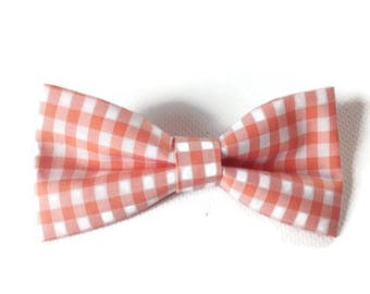 dog orange check bow tie cat bowtie cotton bow tie for dog orange plaid bow tie for cat owner matching bow ties for small dogs lovers cats