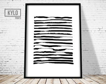 Brush Strokes Print, Abstract Poster, Abstract Art Print, Minimalist Print, Minimalist Poster, Brush Art, Art Brush Print, Paintbrush Print