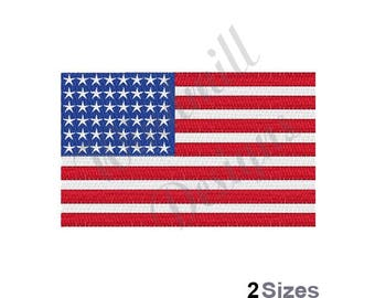 American Flag - machine embroidery design