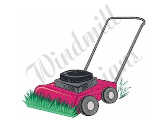 Lawn Mower - Machine Embroidery Design