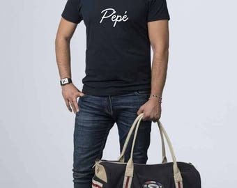 """Grandpa - T-shirt Grandpa personalized """"Pepé"""" with name or Word - Grandpa gift idea - gift Christmas gift mother grandfathers"""