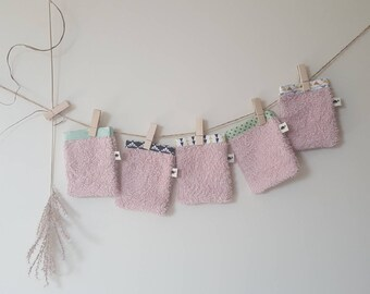 Toddler Washcloths old pink