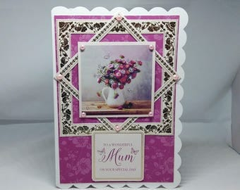 Mother's Day Card - Mum/Mom/Mummy luxury personalised unique quality special bespoke UK