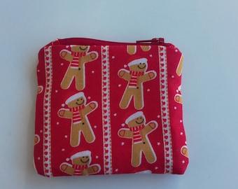 Christmas gingerbread man coin purse