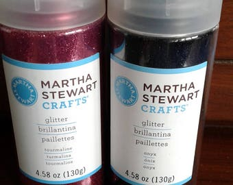 Martha Stewart Crafts | Glitter | Large Bottle |  Onyx  Only Available