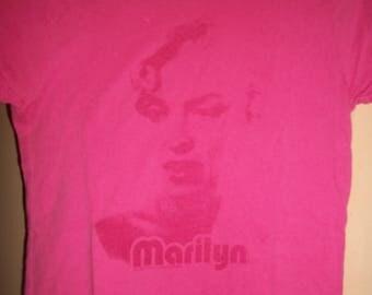 Vintage Marilyn Monroe Pink Cotton Tee Shirt Size S