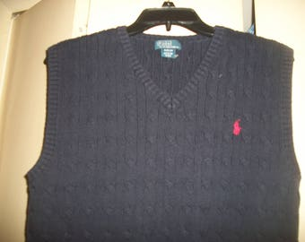 Vintage Polo Ralph Lauren Navy Sweater Vest Size XL (18-20)