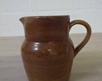 Vintage French Stoneware Brown Jug/Pitcher/Stoneware/French Vintage/Pitcher/Jug/Breakfast Table/Drinks Pitcher
