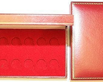 Red Padded Coin Cases To Hold 10x Half Sovereigns