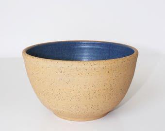 Handmade Ceramic Bowl, Ceramic Bowl, Blue Bowl, Speckled Bowl, Cereal Bowl, Ice Cream Bowl, Medium Ceramic Bowl, Rustic Bowl, Rustic Pottery
